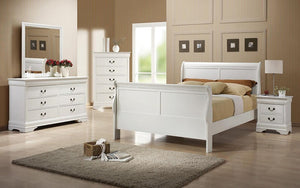 Sleigh Bedroom Set 8 pc - White