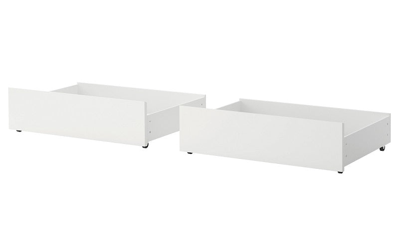 Bunk Bed - Double over Double Mission Style with or without Drawers Solid Wood - White