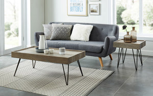 Coffee Table with Tray Top – Antique Grey