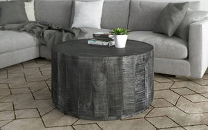 Coffee Table with Solid Wood - Distressed Grey