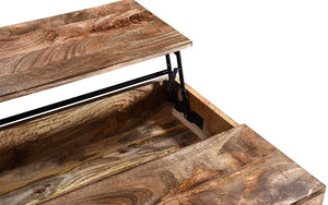 Coffee Table with Lift Top – Natural & Black