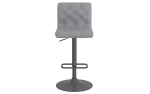 Bar Stool With High Back & 360° Swivel Leather Seat - Grey | White | Black