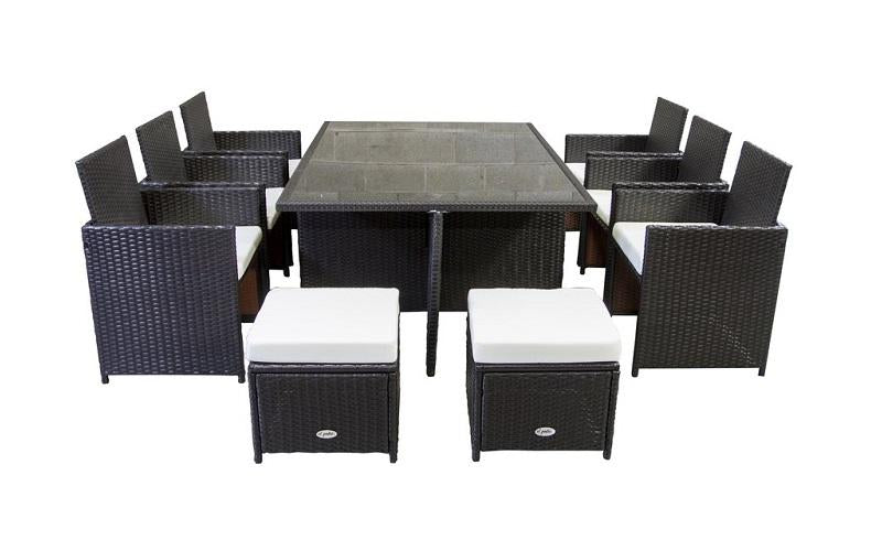 Outdoor Dining Set - 11 pc (Brown & Red)