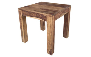 End Table with Solid Wood - Dark Natural