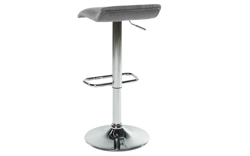 Bar Stool With Low Back & 360° Swivel Fabric Seat - Grey | Beige | Red
