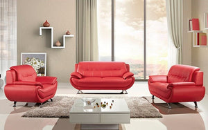 Sofa Set - 3 Piece - Red