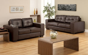 Sofa Set - 3 Piece - Chocolate