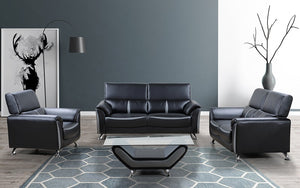 Sofa Set - 4 Piece - Charcoal | Light Grey