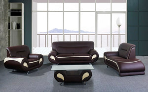 Sofa Set - 4 Piece - Chocolate | Beige