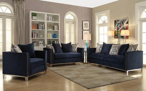 Sofa Set - 3 Piece - Navy