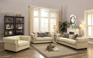 Sofa Set - 3 Piece - Beige