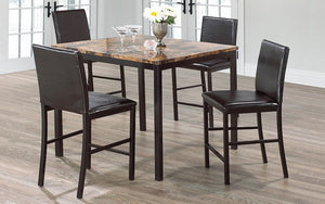 Pub Set with Chairs - 5 pc - Brown | Black