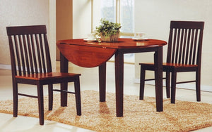 Kitchen Set Solid Wood with Extendable Leafs - 3 pc - Espresso | Oak