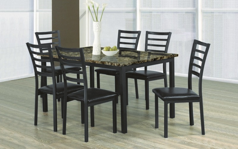 Kitchen Set with Marble Top - 5 pc or 7 pc - Espresso | Black