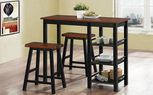 Pub Set with Stools - 3 pc - Dirty Oak | Black