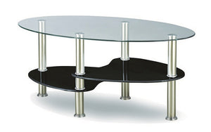 Coffee Table with Glass Top - Chrome | White | Black