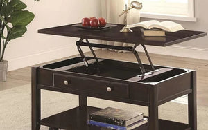 Coffee Table Set with Lift Top & Shelf - 3 pc - Espresso