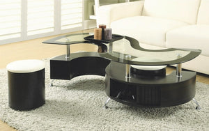 Coffee Table with 2 Stools - Espresso