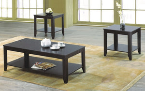 Coffee Table Set with Shelf - 3 pc - Espresso