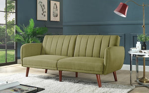 Fabric Sofa Bed with Arm Rest - Green