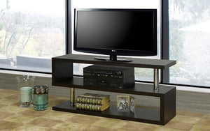 TV Stand with Shelves - Espresso
