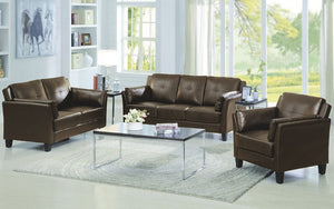 Sofa Set - 3 Piece - Brown