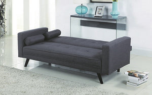 Fabric Sofa Bed with Arm Rest - Dark Grey
