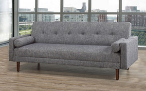 Fabric Sofa Bed with Arm Rest - Grey
