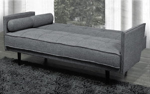 Fabric Sofa Bed with Arm Rest - Gey
