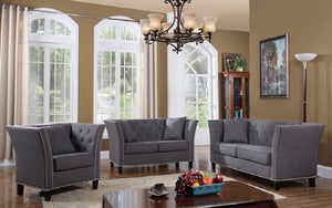 Sofa Set - 3 Piece - Grey