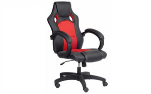 Office Chair with High Back- Black & Red
