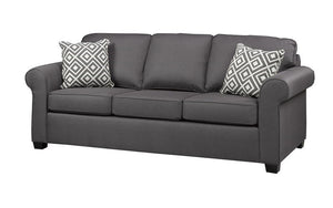 Fabric Sofa with Pull Out Bed - Charcoal Grey