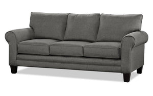 Fabric Sofa with Pull Out Bed - Steel Grey
