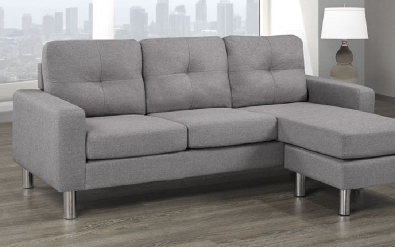 Sectional with Reversible Chaise - Light Grey