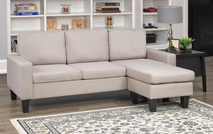 Sectional with Reversible Chaise - Beige