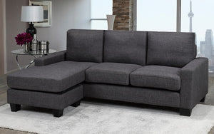 Sectional with Reversible Chaise - Dark Grey