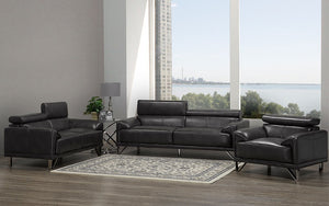 Sofa Set - 3 Piece - Dark Grey