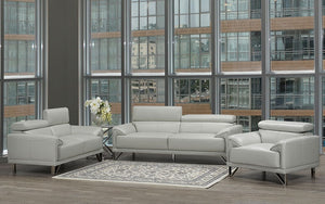 Sofa Set - 3 Piece - Light Grey