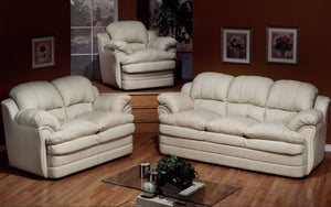 Sofa Set - 3 Piece - White