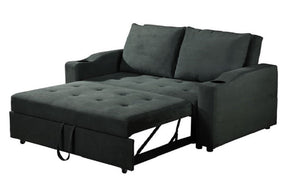 Fabric Sofa Bed with Cup Holders - Dark Grey