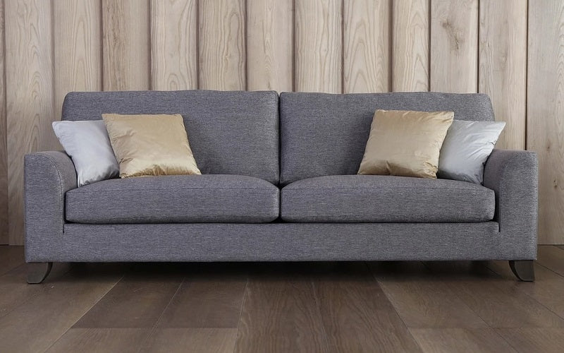 Fabric Sofa With Pull Out Bed Grey Furnberry
