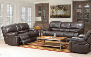 Recliner Set - 3 Piece with Air Leather - Chocolate