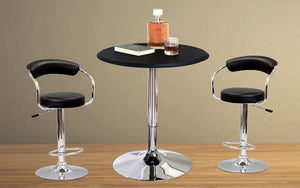 Bar Table Only - Leather | Wood