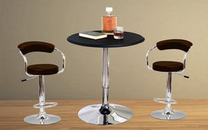 Bar Set with Stools - 3 pc - Black | White | Espresso | Red