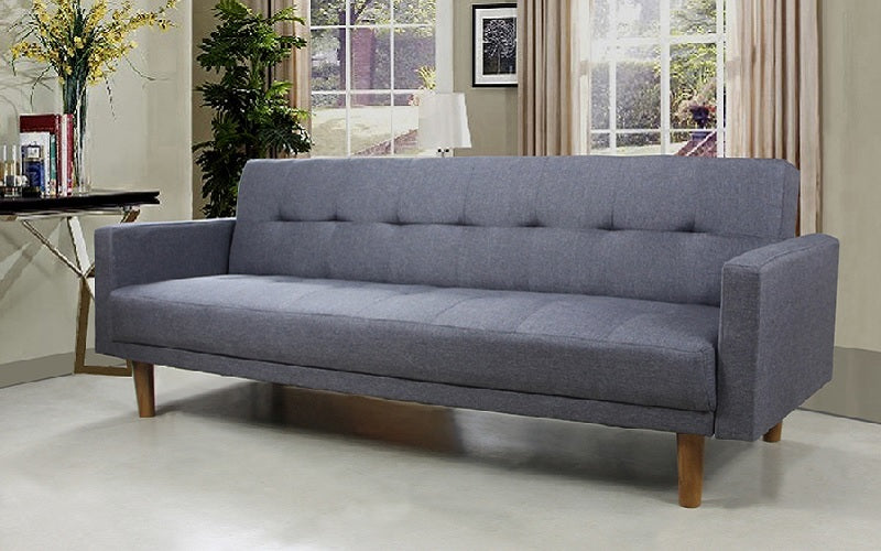 Tremendous Fabric Sofa Bed With Arm Rest Grey Download Free Architecture Designs Scobabritishbridgeorg
