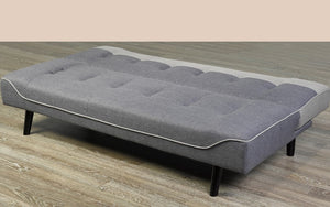 Fabric Sofa Bed with Dark Legs - Grey