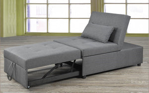 Fabric Sofa Bed - All in One - Grey