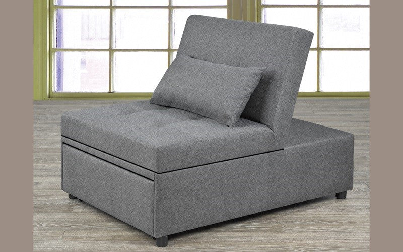 Fabric Sofa Bed All In One Grey Furnberry