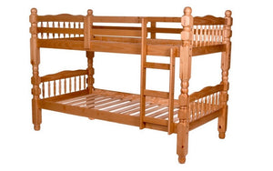 Bunk Bed - Twin over Twin Post Design Solid Wood - Honey