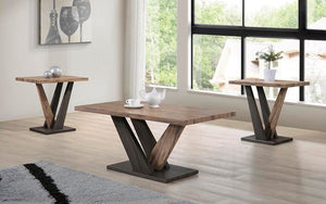 Coffee Table Set - 3 pc - Espresso | Distressed Oak